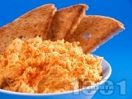 Хумус / пастет от сварен суров нахут със сусамов тахан, чесън и лимонов сок
